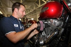 Justin Bender installs the Zipper's HiFlow Air Filter Kit