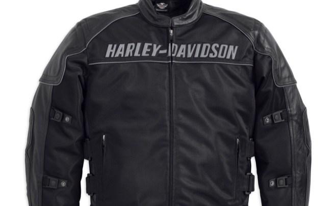 Harley-Davidson Men's Blackoak Jacket with Leather Trim (front)