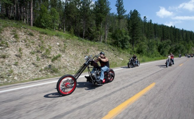 Paul Teutul Sr. leads one of the packs through the Black Hills