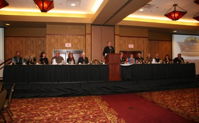 John Paul DeJoria emceed the ceremonial breakfast to honor the 2013 Sturgis Motorcycle Hall of Fame and Freedom Fighters inductees.