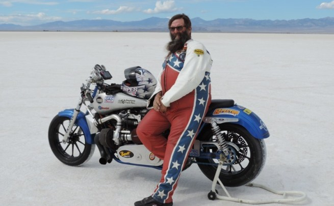 Wink Eller at the 10th annual BUB Motorcycle Speed Trials