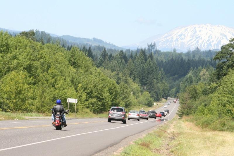 Cruising Southern Washington under the watchful eye of Mt. St Helens