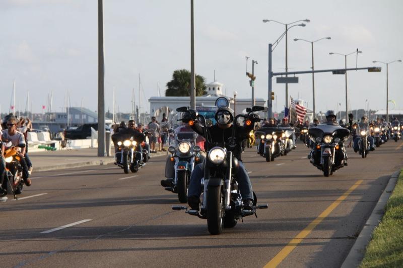The Iron Horse Sunset Parade packed Shoreline Boulevard Saturday evening
