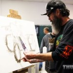 George the Painter at work in the Art & Culture Show