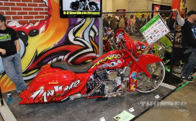 2014 Legends Ride auction bike built by students at Sturgis Brown High School