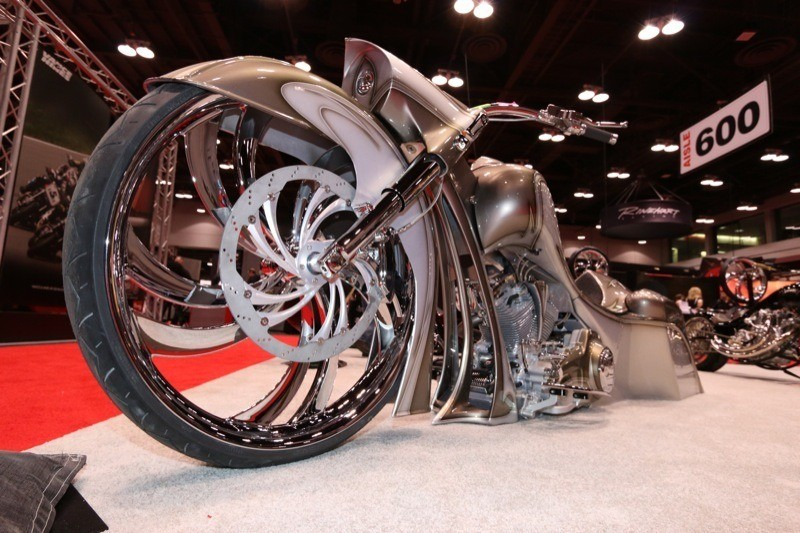 """Metalsport Wheels' new 32"""" designs were the talk of the 2014 V-Twin Expo"""