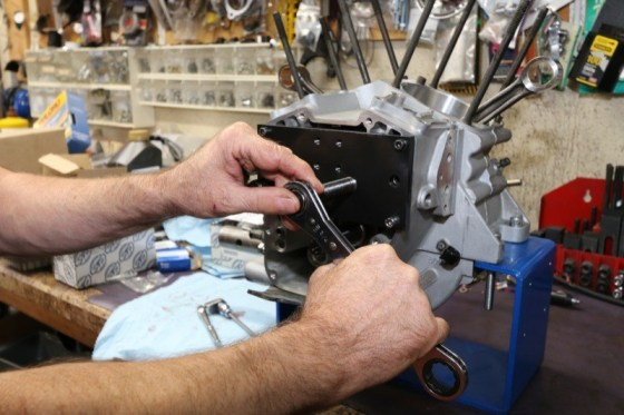 The inner cam bearings were installed using the JIMS Cam Bearing Installation Tool