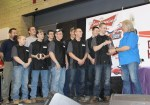 Donnie Smith hands out the awards to the Eden High School Chopper Club