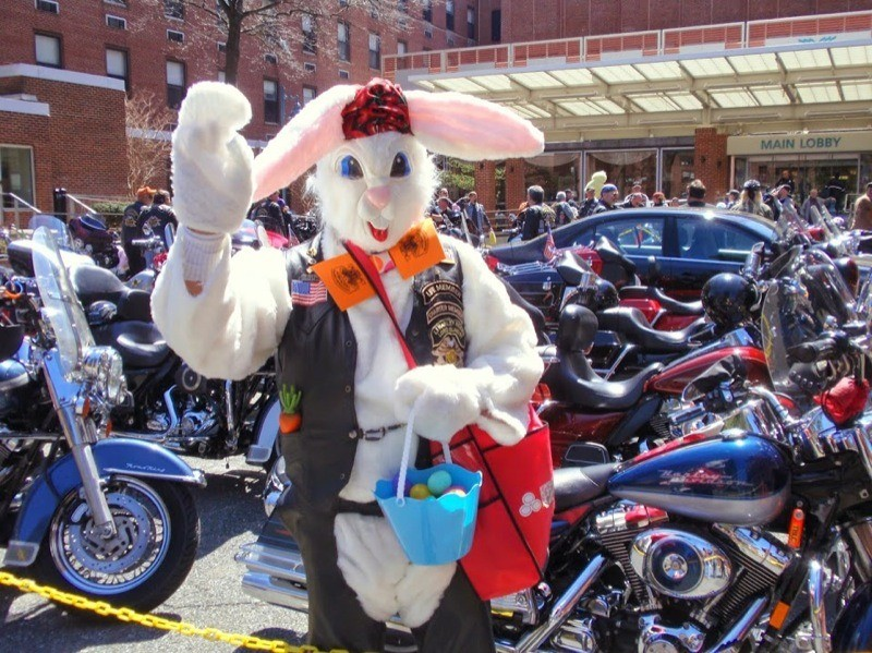 Biker Easter Bunny