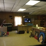 Elvis' carport office is where he gave his first televised interview after returning from service