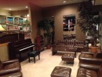 The racquetball lounge. Elvis played that piano and sang with friends in this room on the morning of his death.