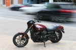 Taking a striking pose in downtown Austin, the Street 750 gathered plenty of attention
