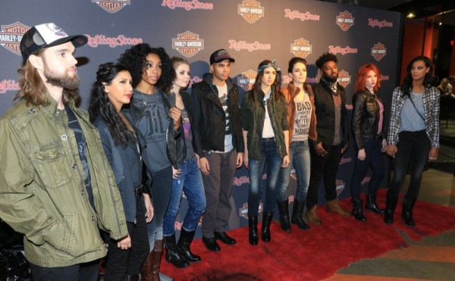 Models garbed in the latest fashions from the Harley-Davidson Black Label Collection