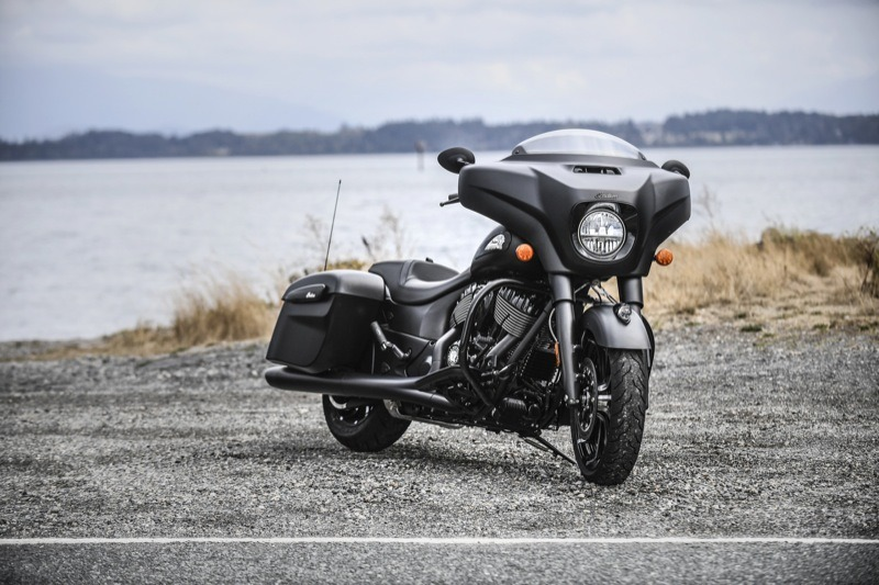 The 2019 Chieftain Dark Horse features new paint options and premium finishes