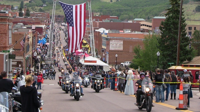 The 31st Annual POW/MIA Recognition Ride rolls into Cripple Creek from Woodland Park, Colorado.