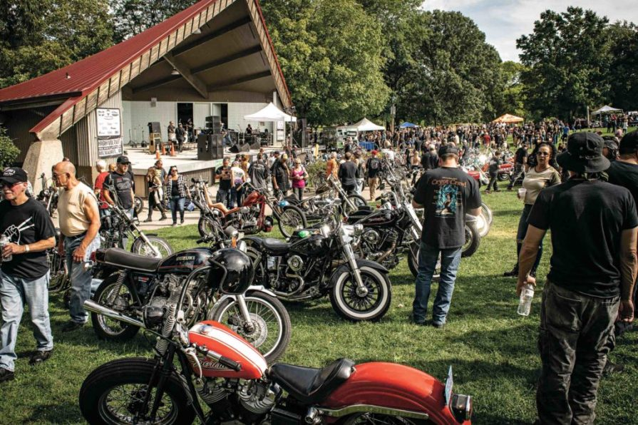 More than 200 show bikes and 5,000 people packed the amphitheater in Milwaukee's Bayview neighborhood for the High Voltage Show, and with free admission, five bands, and bikes for days, it's a fun, family-friendly day with all proceeds going to fund cancer research.