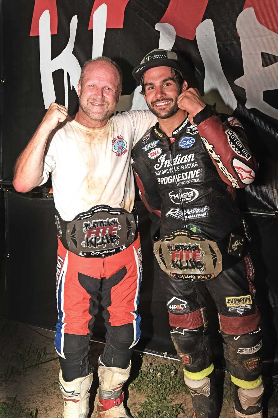 For these two legends it was Belt Central by the end of the night, with Bryan Smith taking home third place. Halbert won.
