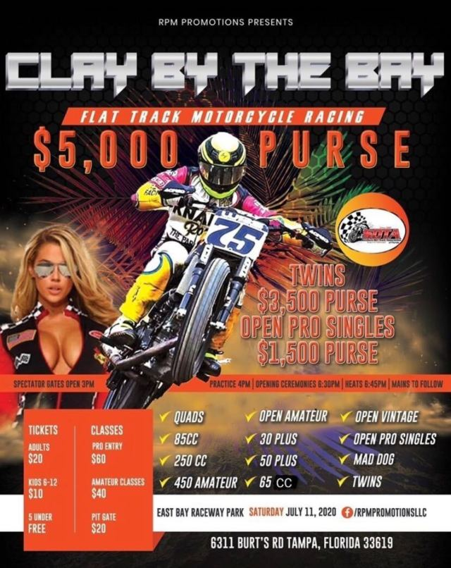 Clay by the Bay flat track racing on FITE TV