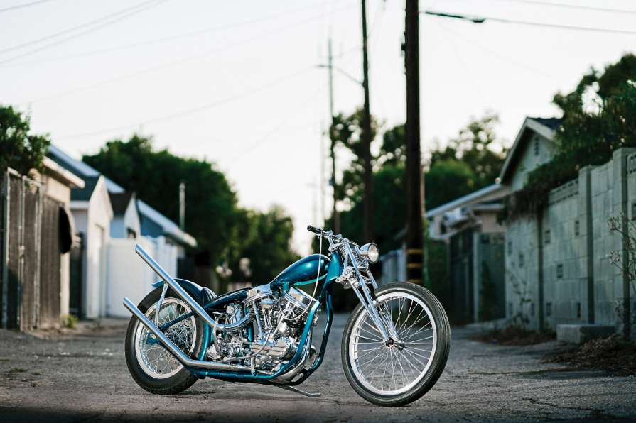Ben Zales' beautiful aqua-blue 1963 Panhead stole the show in this year's The No Show online competition, sponsored by Harley-Davidson in the wake of so many bike-show postponements.