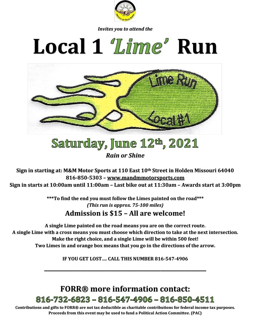 FORR Lime Ride flyer
