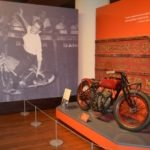 Mildred Tinkham performing on the Wall of Death on a 1911 Indian Scout