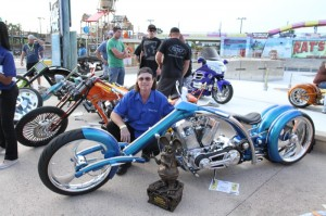 Steve Galvin of Wikked Steel was named America's World Champion for his unique four-wheeled construction