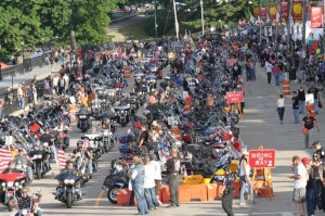 The 19th annual Freedom Ride makes its way down Lakeside Avenue at Weirs Beach