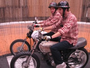 Cody and Kyle Ives plan out their next session in the Wall of Death