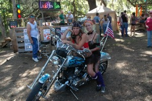 The Broken Spoke beer girls kept libations flowing nicely and still found time to pose for a few photo ops