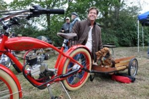 David Dikeman takes in the Backyard Nationals with his riding pals Honey and Baby