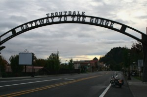 Historic Highway 30 in Troutdale, Oregon