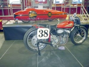 No small nod to the performance of past Indians was evident in the presence of an old flathead dirt tracker and the Burt Munro Special… The World's Fastest Indian. The only thing that sounded better than Indian's new engine was Burt's old one… which was fired up on more than one occasion during the show.