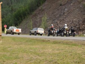 Always be prepared for road construction delays while riding in the North Country