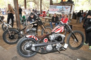 With all the creative customs in the show it was tough to choose a winner, but Thunder Press editors Robert Filla and Shadow selected this Bling's Cycle bobber built by Bill Dodge