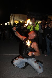 Torch is a Fire Performer. Torch eats fire. Torch is... uhhh... Torch is different.