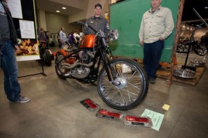 """Mitchell Technical Institute's build, titled """"Money Pit,"""" started as a donated 1983 H-D XLH Sportster"""