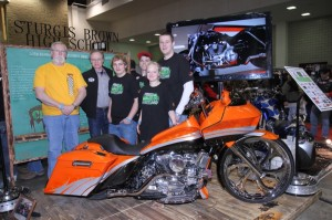 Keith Terry, Rod Woodruff and some of the bike builders from Sturgis Brown High School