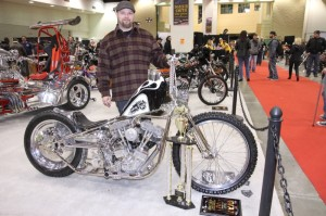 Brent Law of Cycle Boyz Custom took the top prize in the Premier Class with his amazing '79 FLH custom