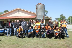 Lunch stop at Martelle's Feed House during the Fallen Rider Memorial Ride