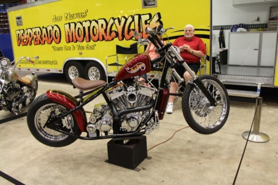 Jeff Nicklus with Desperado Motorcycles was proud to display the RadRacer, a tribute bike dedicated to his son Conrad