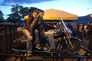 Rob and Monique Sharlon of Elko got to drive home the brand-new 110th Anniversary Road King when their single raffle ticket was pulled. Not bad for a $20 investment.