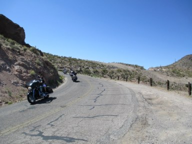 Hordes of happy riders zip through the twisties and slippery tar snakes after a trip through the historic ghost town of Oatman