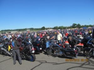 A sea of bikes at the Pentagon parking lot