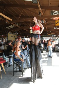 You never know who might show up at the Full Throttle Saloon