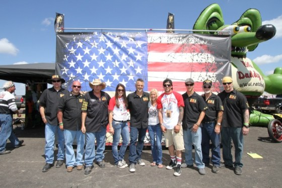 The Rat's Hole crew celebrating their 25th year of bike shows at Sturgis