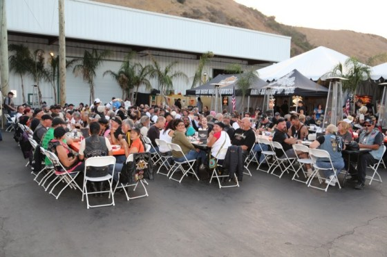 Hundreds of H.O.G. members gathered to enjoy the closing ceremony and dinner