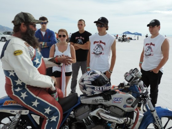"""Wink talks with the kids of Pine Bush (N.Y.) High School who were on hand participating in the """"Helping With Horsepower"""" project sponsored by Team Klock Werks"""