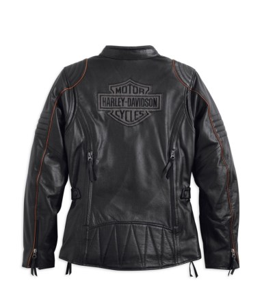 Harley-Davidson Eclipse Waterproof Leather Jacket (back)