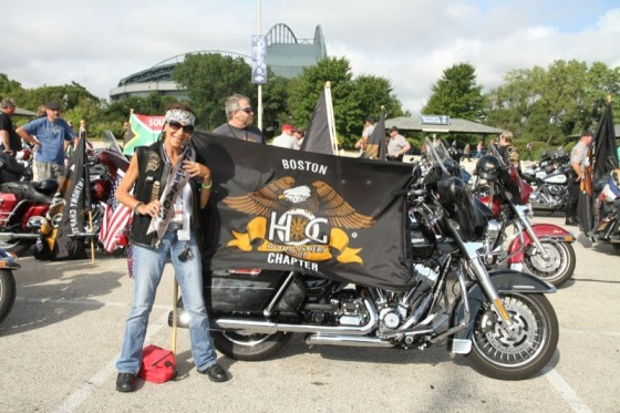Betsy Lister H-D 110th Anniversary Parade