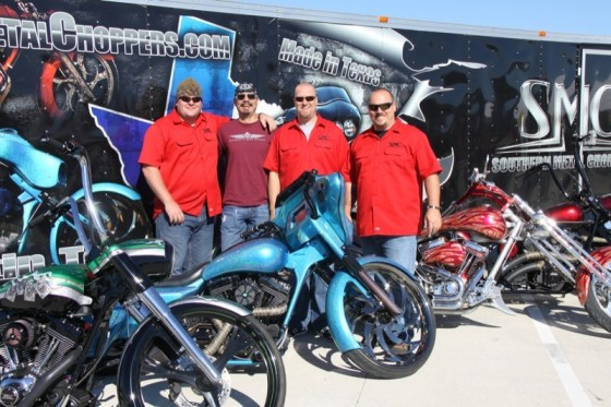 The crew from Southern Metal Choppers based in Austin, Texas